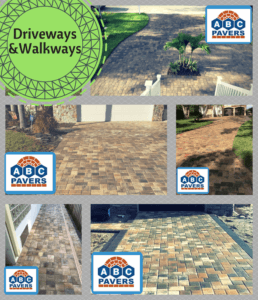 Driveways Walkways Pavers Travertine Design ideas Gallery Designs Ideas installed by contractor ABC PAVERS